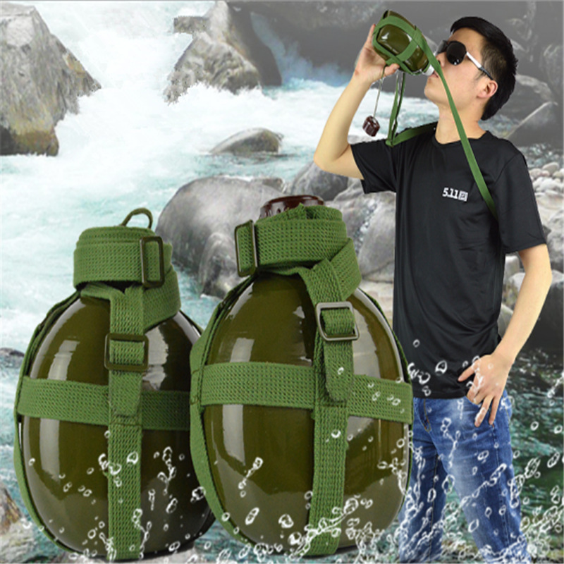 Water Bottle Thickened 87 Aluminum Kettle 1L Old Military Pot With Student Military Training Kettle Hydro Flask