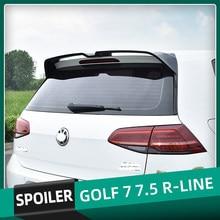 Для Volkswagen Golf 7 7,5 MK7 MK7.5 r-образный сзади крыши загрузки спойлер автомобиля крылья ABS спойлер из материала для VW Golf 7 2014, 15, 16, 17, 18