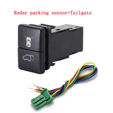 1pc Dual key switch dual switch fog lights radar power supply LED Headlight Switch Button for Mitsubishi L200 15 18