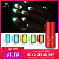 Saviland Gel Fluorescent vernis néon lueur dans le noir lumière Gel vernis à ongles 19 changement de couleur lumineuse dans la nuit Gel laque colle