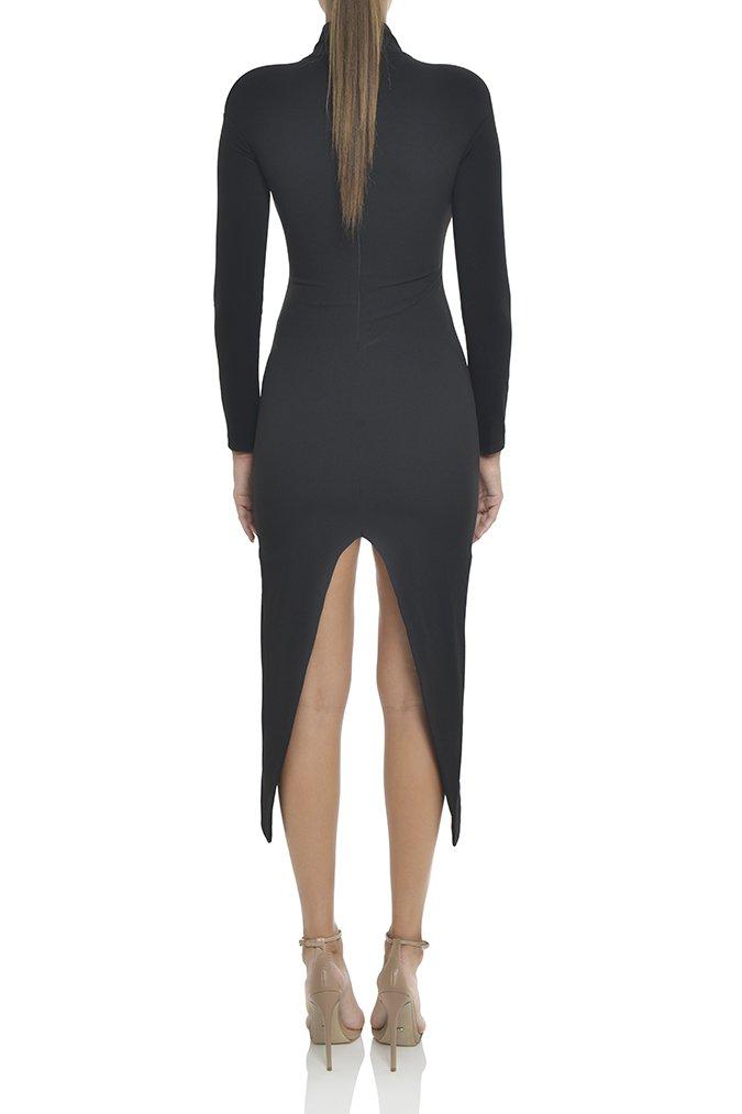 2018 nouvelle mode sexy femmes robe col roulé moulante rayonne élégant spécial échantillon célébrité partie Mini robe