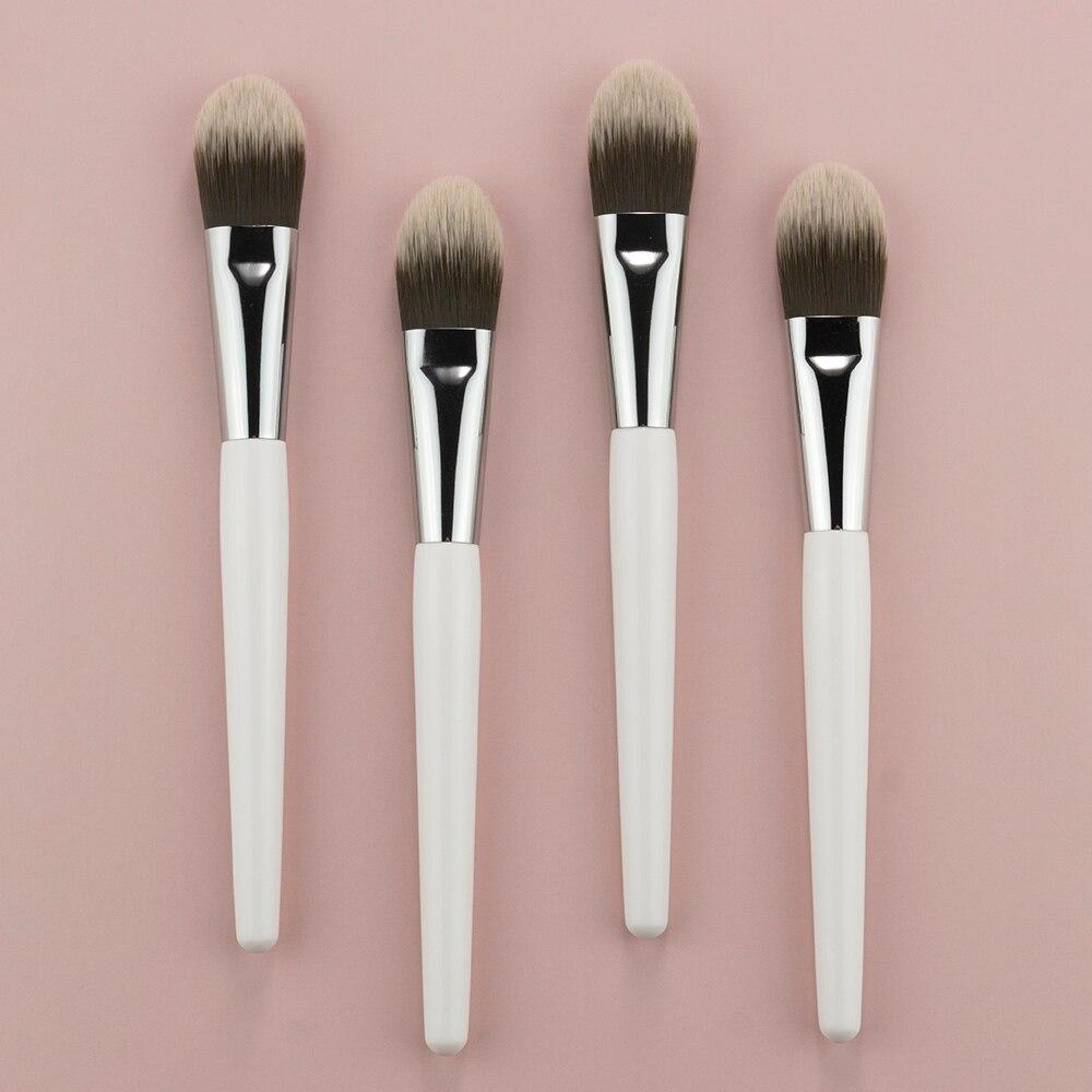 1 pcs branco fundacao blush pinceis de 04