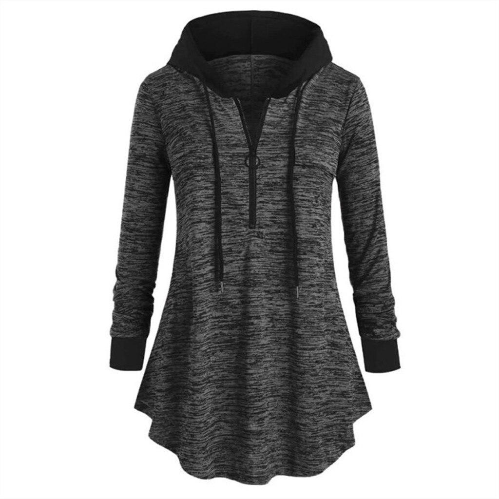 Hoodies Sweatshirt Women Space dyeing Long Sleeve Hooded Sweatshirts Tunic Tops Plus Size L-5XL Tracksuits sudadera mujer