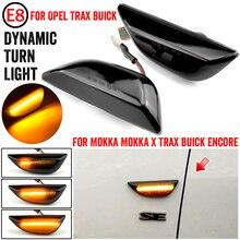 2 pces indicador lateral dinâmico led sinal de volta preto para opel mokka x 2012 2020 para chevrolet trax 2013 2019 para buick encore 13 20