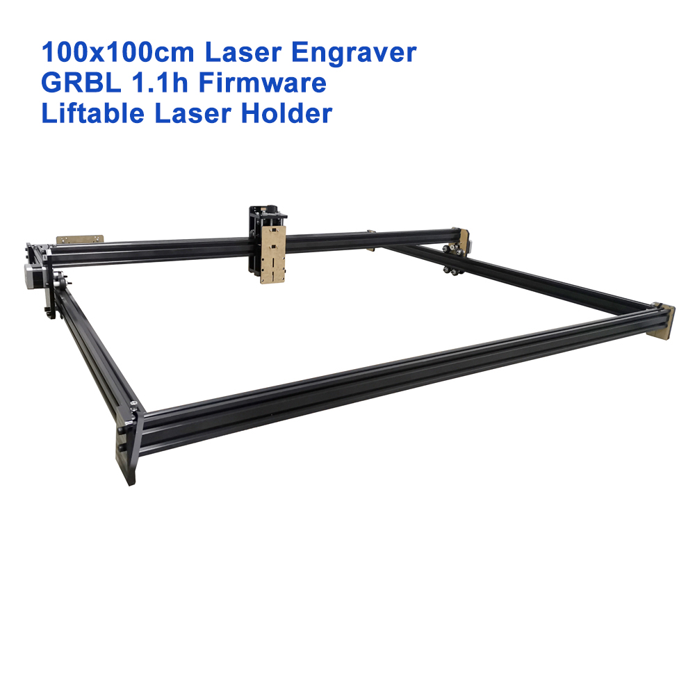 Лазерный гравер с ЧПУ, 100x100 см, 5500 нм, МВт, 15 Вт, 40 Вт