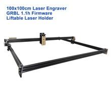 Grabador láser CNC de 100x100cm, módulo ajustable de enfoque elevador Manual con 5500mW, 15W, 40W, 450nm, PWM, GRBL, máquina de grabado láser