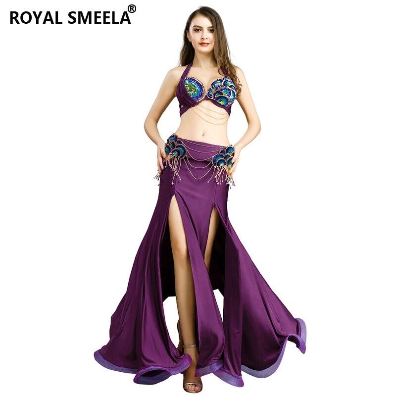 6 Colors Belly Dance Costume Set 2 pics Bra /& Belt Outfit Dancing Wear