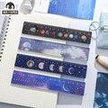 Mr.paper 4 вида конструкций, акриловая линейка, серия Planet Moon, многофункциональный инструмент для рисования DIY, студенческие линейки, школьные оф...