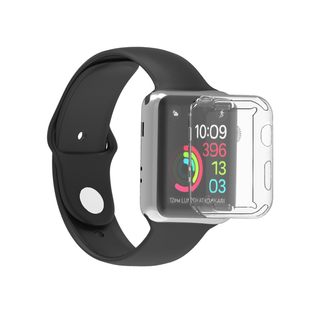 New For Watch 4 3 44MM 40MM 360 Slim Watch Cover For Apple Watch Case 4 3 2 1 42MM 38MM Soft Clear TPU Screen Protector