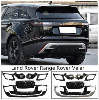 Rear Bumper Lip Spoilers & Exhause For Land Rover Range Rover Velar 2017 18 19 2020 2021 High Quality Silver Black ABS Diffuser