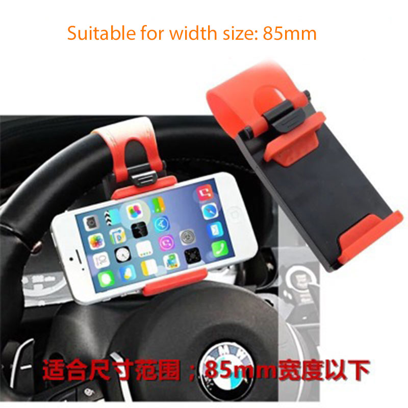 Image 3 - Universal Car Holder Mini Air Vent Steering Wheel Clip Mount Cell Phone Mobile Holder For iPhone Support Bracket Stand-in Auto Fastener & Clip from Automobiles & Motorcycles
