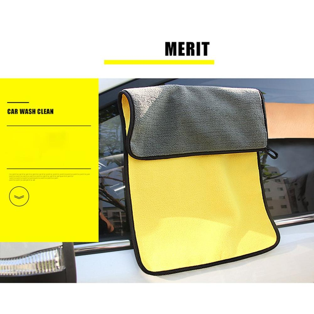 Super Thick Plush Microfiber Car Cleaning Cloth Wet And Dry Dirt Dust Car Wiping Washing Towel Good Water Absorption