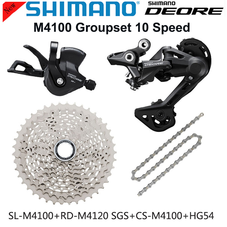 Shimano DEORE M6000 <font><b>Groupset</b></font> MTB Mountain Bike <font><b>Groupset</b></font> <font><b>1x10</b></font>-Speed 11-42T/46T M6000 shifter Rear Derailleur KMC Chain SunRace image