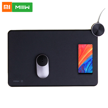 Xiaomi MIIIW Smart Mouse Pad Qi Standard Support Mix 2S Wireless Charging Mousepad ABS Mouse Mat RGB Light Mouse Pad Gaming Pad 1