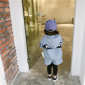 Image 3 - 2019 Autumn New Arrival clothing sets thickened hooded matching colors jacket with long pants fashion suit for girls and boys