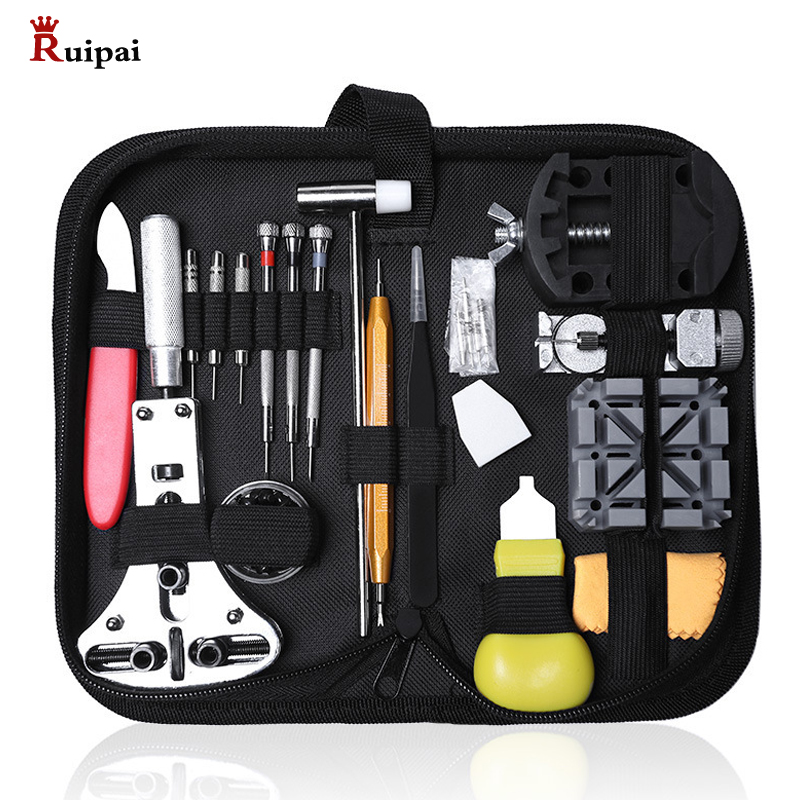 RUIPAI 39pcs Watch Service Tool Kit  Watch Battery Replacement Tool  Watch Band Tool Set