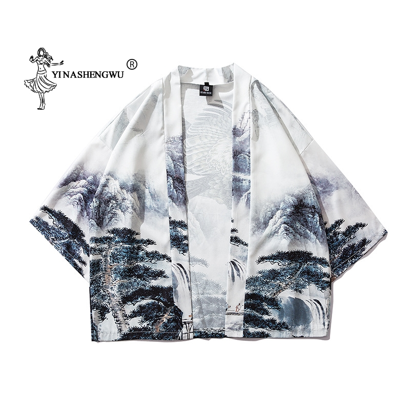 Women Print Yukata Kimonos Japanese Kimono Traditional Cardigan Men Kimono Cosplay Costumes Cardigan Shirts Coat Asian Clothes