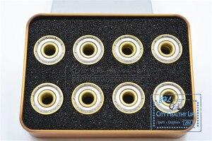 Image 4 - 16 יח\חבילה שוויצרית BSB זהב 7 חרוזים ILQ 11 Bearing עבור Inline מהירות גלגיליות עבור סבע HV WFSC KSJ Powerslide 608 עם ברזל תיבה