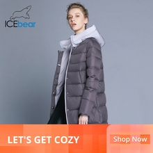 ICEbear 2019 new hooded woman coat winter slim jacket high q