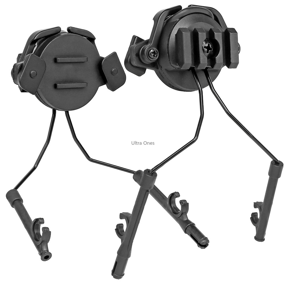 Military Tactical Headset Holder Airsoft Paintball Cs Shooting Headphones Guide Rail Army Fast Helmet Adapter Set Accessories