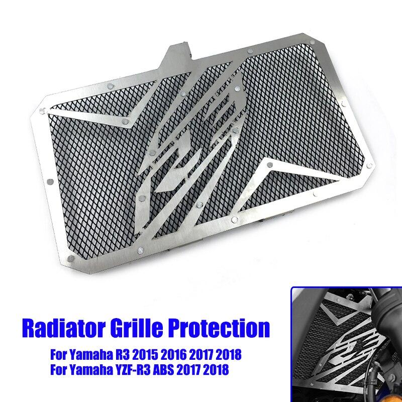 Защитная крышка радиатора мотоцикла, радиаторы из нержавеющей стали для Yamaha YZF R3 ABS 2015 2016 2017 2018