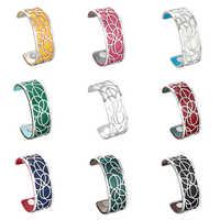Legenstar fleur Bracelets & Bracelets pour femmes acier inoxydable georgettes cuir bricolage Bijoux Manchette Femme Bracelet Pulseiras