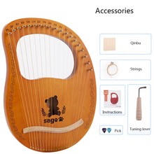 Lyre Harp 10/16String Wooden Lyre Harp Metal Strings Mahogany Solid Wood with Pickup Tuning String Instrument