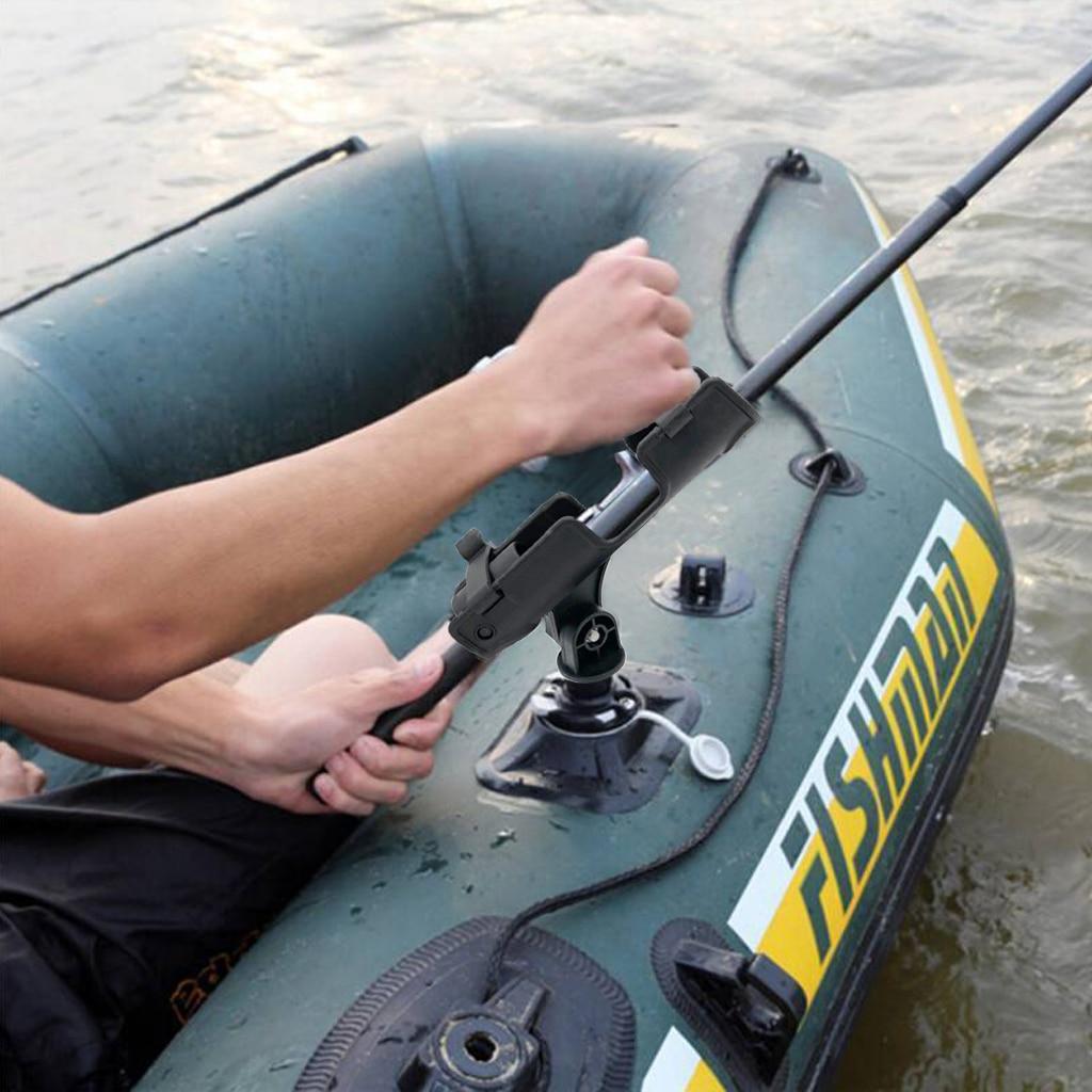 2pcs Fishing Rod Holder Rest for Kayak Boat Raft Ship Adjustable 360 Degree Pole Rack Support w/ Mount