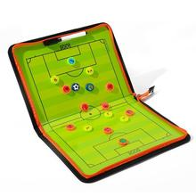 Nuovo pieghevole calcio tattica bordo di allenamento bordo magnetico allenatore di calcio piatto tattico libro Set con penna appunti palla forniture