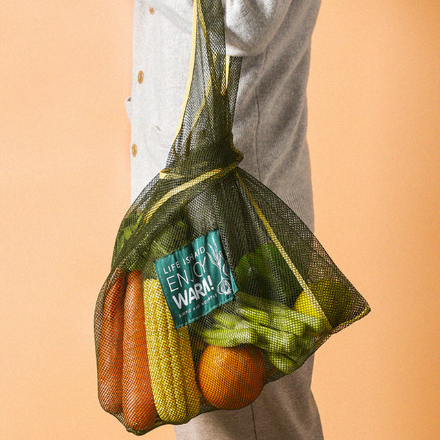 Large Fashion Multi-purpose Kitchen Onion Potato Hangable Fruit and Vegetable Storage Net Basket Hollow Bag Organize Tote Bag 3