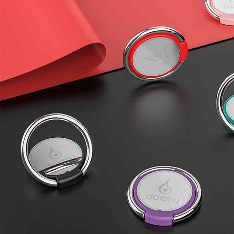 360 Rotasi Jari Cincin Magnetik Mobil Mount Pemegang Bracket Cradle Ponsel Gps Navigasi Logam Berdiri Plastik Lipat Berdiri