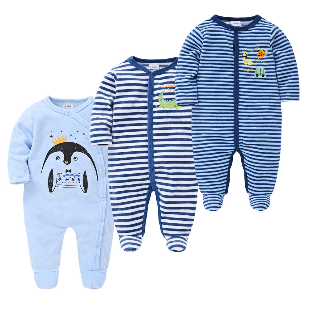 Roupas Bebe De Cute Infant Boys Pajamas Fleece Toddler Baby Warm Velvet Pyjamas Catoon Bear Sleepwear Boys Home Suit Fall Spring