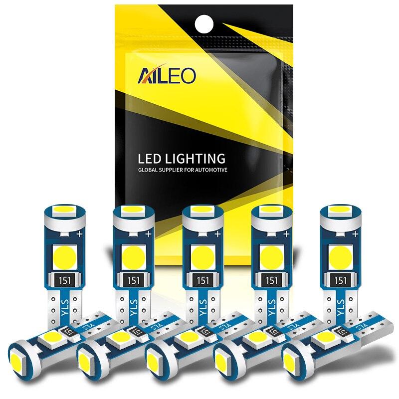 AILEO 10 шт. высокое яркое T5 W1.2W W3W светодиодный для кондиционера воздуха Кнопка освещение подсветка приборов Индикаторы приборной панели кнопк...