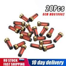 20x yüksek kaliteli araba yakıt enjektörü mikro filtre yedek parça MD619962 Mitsubishi için