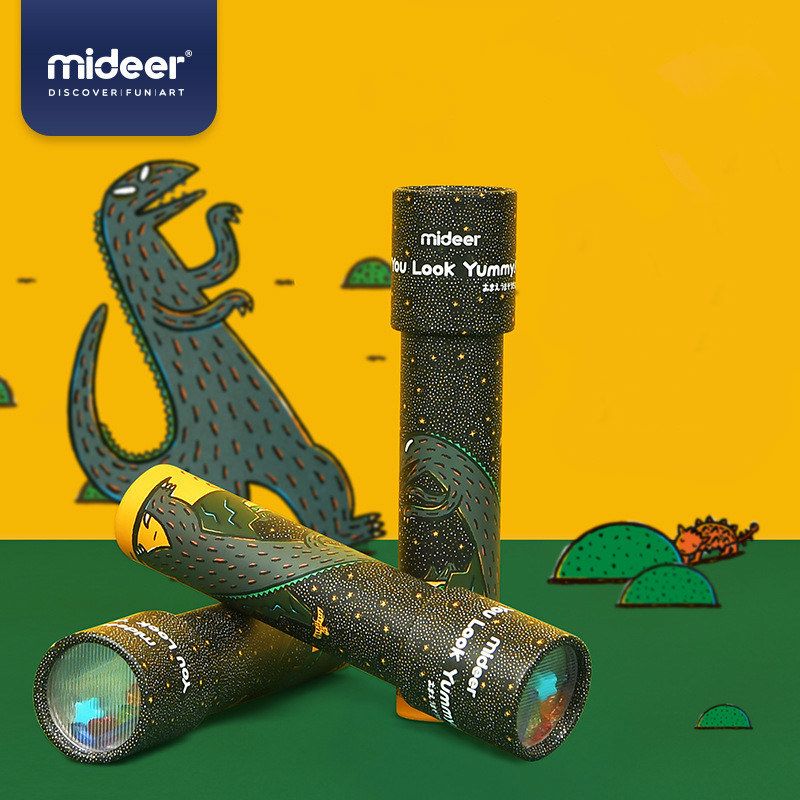 Mideer Children Magic Kaleidoscope Palace Sida Also Dinosaur Series Baby Polyprism Toy Science 3-6 Years Old Boy And Girl