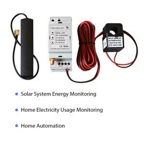 Двунаправленный однофазный WiFi счетчик энергии, 250А, din-рейка, интеграция с домашним помощником, солнечная система