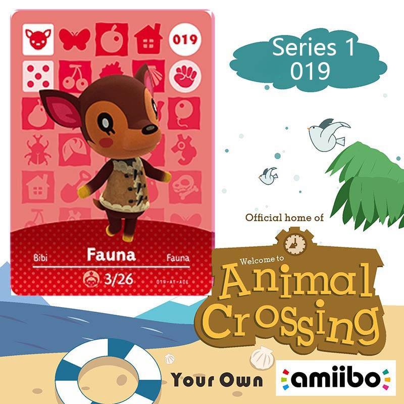 019 Fauna Animal Crossing Card Animal Crossing Amiibo Figures Switch Welcome Amiibo Villager New Horizons Amiibo Card Gift