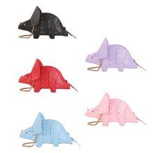 Sac à bandoulière en cuir PU pour femmes, sac à bandoulière en forme de dinosaure, sacoche à chaîne, Mini pochette, pour filles