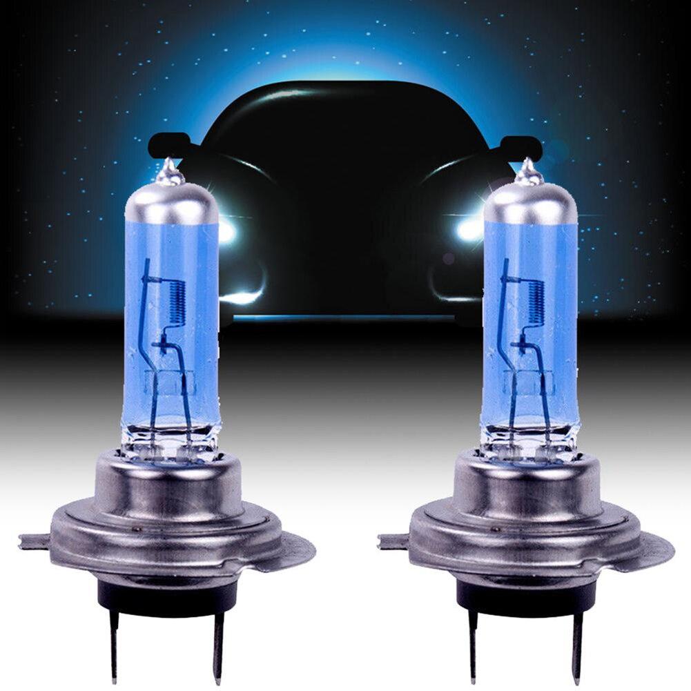 2 шт. H7 H4 H1 6000K Ксеноновые галогенные автомобильные светильник лампы на 12В Супер яркий белый светильник Авто галогенные лампы автомобилей го...