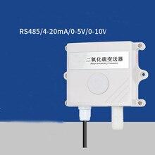RS485 SO2 sensörü modülü 0 20ppm 0 2000ppm SO2 verici dedektörü gaz sensörü SO2 0 5V/0 10V/4 20MA 485 protokolü gaz sensörü