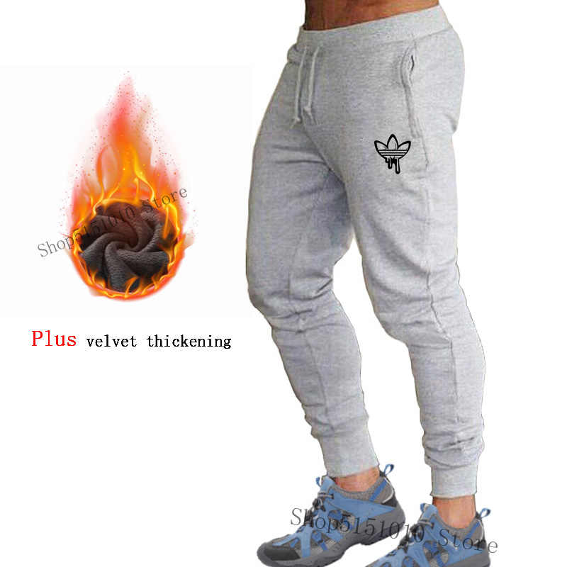 Men's Running Pants Plus thick velvet Training Pants Autumn-Winter Warm Sports Fitness Trousers Hiking Mountaineering Sweatpants