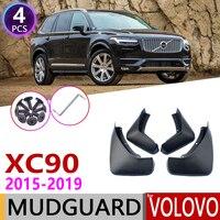 Front Rear Car Mudflap for Volvo XC90 2015~2019 Fender Mud Guard Flap Splash Flaps Mudguard Accessories 2016 2017 2018 2nd 2 Gen