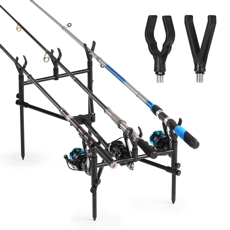 4PCS Fishing Rod Rest Head Fishing Rod Pole Butt Grip V-head Fishing Rod Holder Carp Fishing Tackle