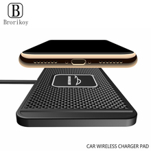 Alfombrilla de silicona para carga inalámbrica de coche, 10 W, para Samsung Galaxy S20 S10 Note 10, carga rápida inalámbrica para iPhone 11 Pro Xs Max 8 Plus