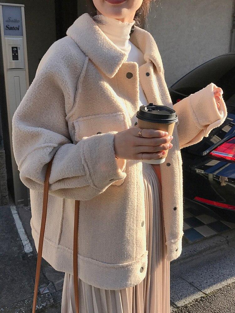 2020 Ранняя весна анти овчина пальто женские новые свободные плюшевые пальто рубашка куртка|Куртки|   | АлиЭкспресс - Утепляемся: одежда для осени