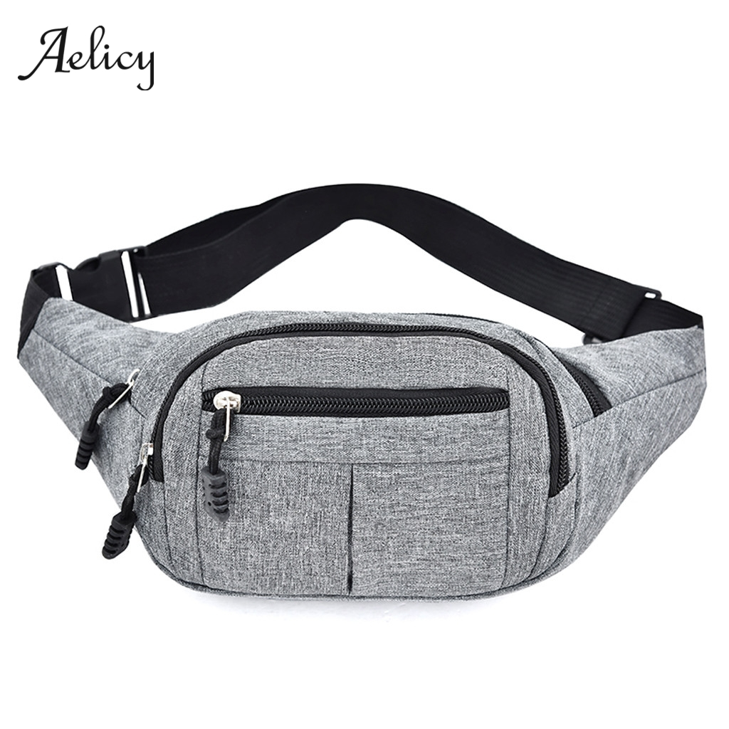 Men Leather Messenger Hip Bum Fanny Pack Waist Bag Pouch Pocket Sport Cross body