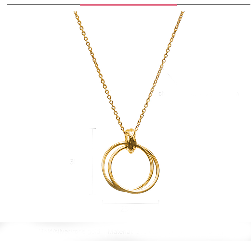 Charm Stainless Steel Necklaces Pendants Simple Design Round