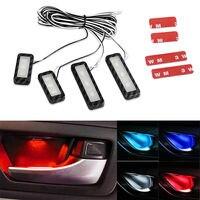 4 pièces ensemble bol poignée accoudoir lumière voiture porte intérieur lumière LED atmosphère lumière Auto intérieur porte lumière lampe décorative