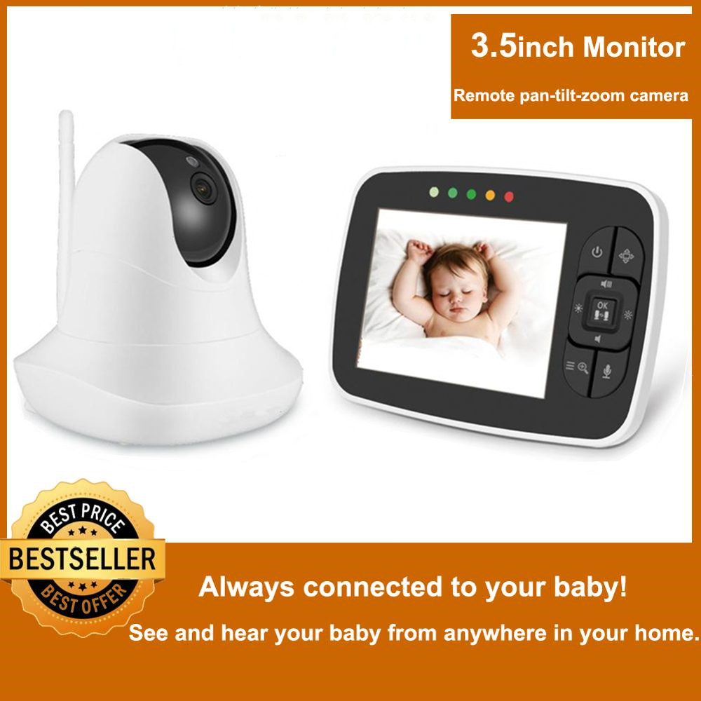 Baby-Monitor Remote-Camera Night-Vision Infrared Wireless-Video with Pan-Tilt-Zoom High-Resolution