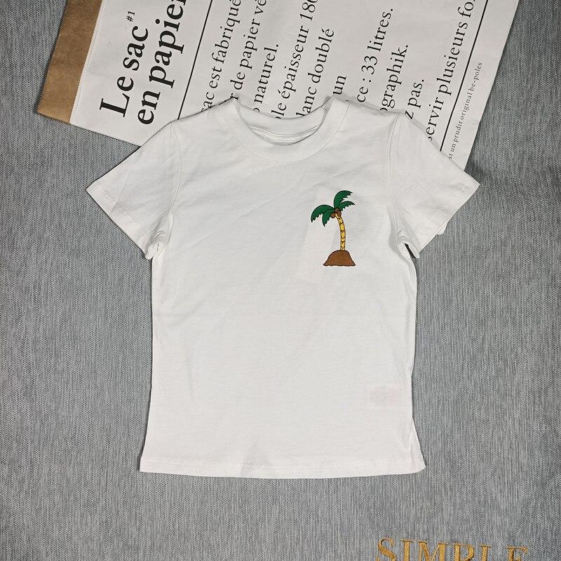 BOBOZONE Cartoon Flowers birds fruit t-shirt for kids boys girls summer top 2